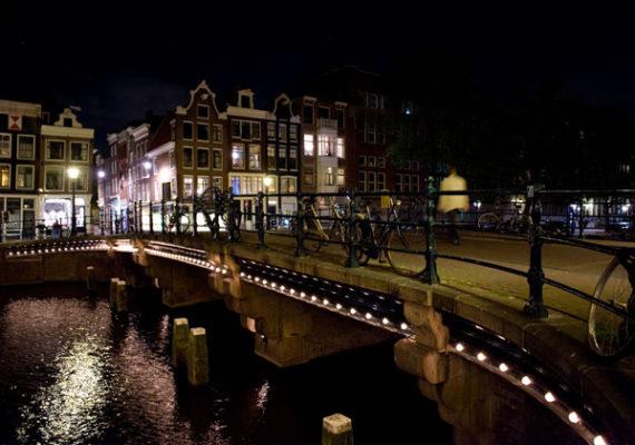 Ночная прогулка по Амстердаму