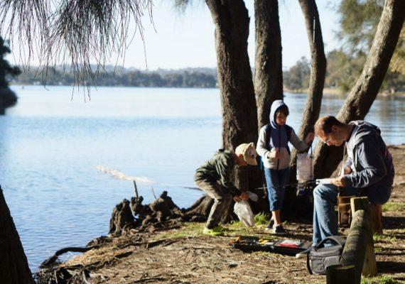 Первая рыбалка с детьми